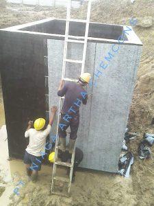 Waterproofing Membran Tempel di Area Penampungan Limbah / Air