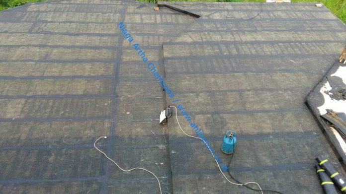 pasang waterproofing membrane