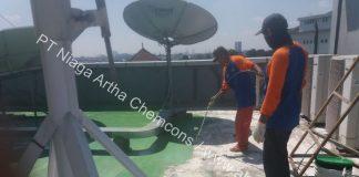 cara mengatasi bocor atap beton